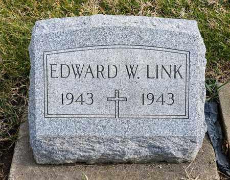 LINK, EDWARD W - Richland County, Ohio | EDWARD W LINK - Ohio Gravestone Photos