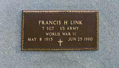 LINK, FRANCIS H - Richland County, Ohio | FRANCIS H LINK - Ohio Gravestone Photos