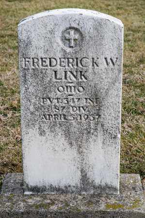 LINK, FREDERICK W - Richland County, Ohio | FREDERICK W LINK - Ohio Gravestone Photos