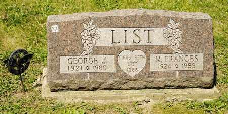LIST, GEORGE J - Richland County, Ohio | GEORGE J LIST - Ohio Gravestone Photos