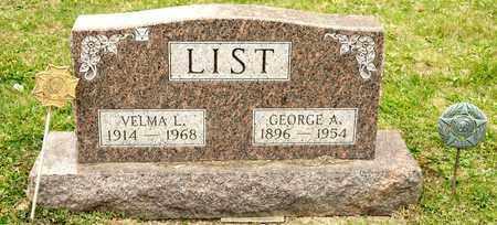 LIST, VELMA L - Richland County, Ohio | VELMA L LIST - Ohio Gravestone Photos