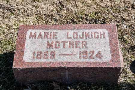 LOJKICH, MARIE - Richland County, Ohio   MARIE LOJKICH - Ohio Gravestone Photos