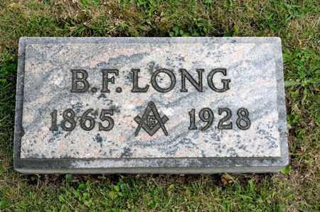 LONG, B F - Richland County, Ohio | B F LONG - Ohio Gravestone Photos