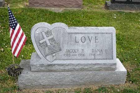 LOVE, JACQUE P - Richland County, Ohio | JACQUE P LOVE - Ohio Gravestone Photos