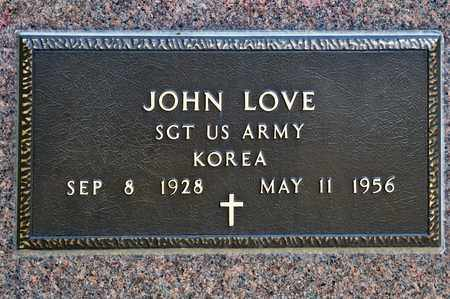 LOVE, JOHN - Richland County, Ohio   JOHN LOVE - Ohio Gravestone Photos