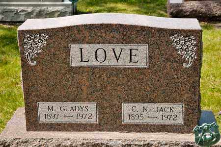 LOVE, M GLADYS - Richland County, Ohio   M GLADYS LOVE - Ohio Gravestone Photos