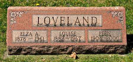 LOVELAND, ELZA A - Richland County, Ohio | ELZA A LOVELAND - Ohio Gravestone Photos