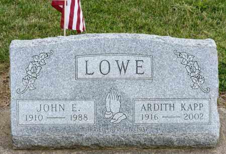 LOWE, JOHN E - Richland County, Ohio | JOHN E LOWE - Ohio Gravestone Photos