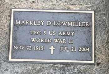 LOWMILLER, MARKLEY D - Richland County, Ohio | MARKLEY D LOWMILLER - Ohio Gravestone Photos