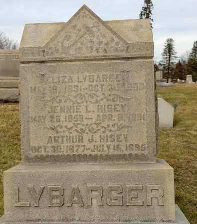 LYBARGER HISEY, JENNIE LOUISA - Richland County, Ohio | JENNIE LOUISA LYBARGER HISEY - Ohio Gravestone Photos