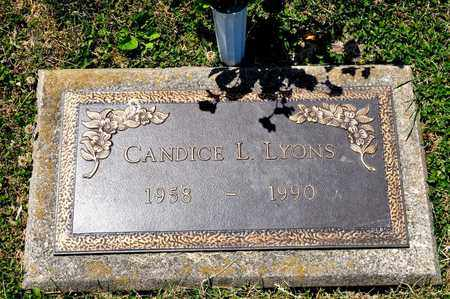 LYONS, CANDICE L - Richland County, Ohio   CANDICE L LYONS - Ohio Gravestone Photos