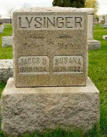 LYSINGER, SUSANA - Richland County, Ohio | SUSANA LYSINGER - Ohio Gravestone Photos