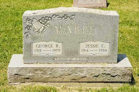 MABRY, JESSIE E - Richland County, Ohio | JESSIE E MABRY - Ohio Gravestone Photos