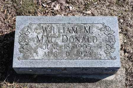 MACDONALD, WILLIAM M - Richland County, Ohio   WILLIAM M MACDONALD - Ohio Gravestone Photos