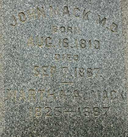 MACK, JOHN - Richland County, Ohio   JOHN MACK - Ohio Gravestone Photos