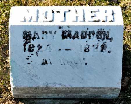 MADDEN, MARY - Richland County, Ohio   MARY MADDEN - Ohio Gravestone Photos