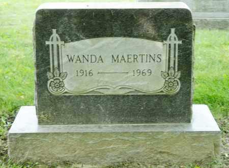 MAERTINS, WANDA - Richland County, Ohio | WANDA MAERTINS - Ohio Gravestone Photos