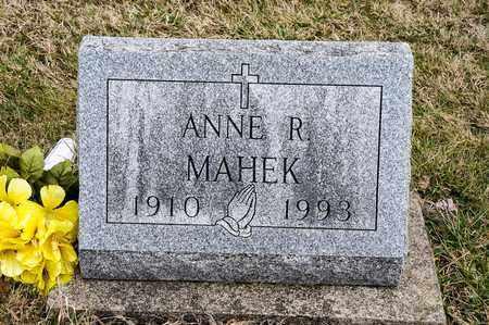 MAHEK, ANNE R - Richland County, Ohio   ANNE R MAHEK - Ohio Gravestone Photos