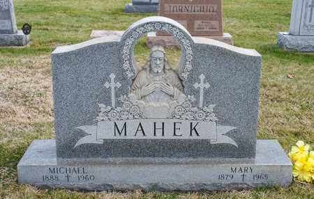 MAHEK, MICHAEL - Richland County, Ohio | MICHAEL MAHEK - Ohio Gravestone Photos