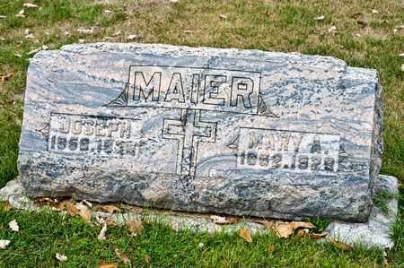 MAIER, MARY A - Richland County, Ohio   MARY A MAIER - Ohio Gravestone Photos