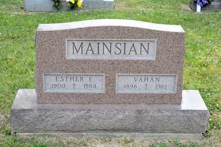 MAINSIAN, ESTHER E - Richland County, Ohio | ESTHER E MAINSIAN - Ohio Gravestone Photos