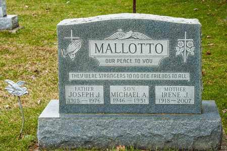 MALLOTTO, IRENE J - Richland County, Ohio | IRENE J MALLOTTO - Ohio Gravestone Photos