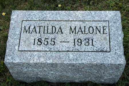 MALONE, MATILDA - Richland County, Ohio | MATILDA MALONE - Ohio Gravestone Photos