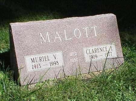 MALOTT, CLARENCE E. - Richland County, Ohio | CLARENCE E. MALOTT - Ohio Gravestone Photos