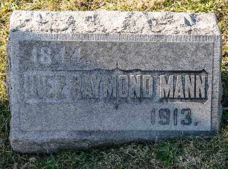 MANN, INEZ RAYMOND - Richland County, Ohio   INEZ RAYMOND MANN - Ohio Gravestone Photos