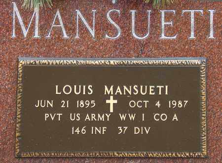MANSUETI, LOUIS - Richland County, Ohio   LOUIS MANSUETI - Ohio Gravestone Photos