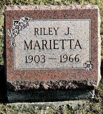 MARIETTA, RILEY J - Richland County, Ohio | RILEY J MARIETTA - Ohio Gravestone Photos