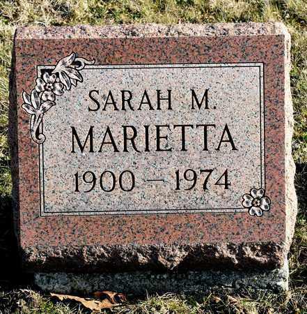 MARIETTA, SARAH M - Richland County, Ohio | SARAH M MARIETTA - Ohio Gravestone Photos
