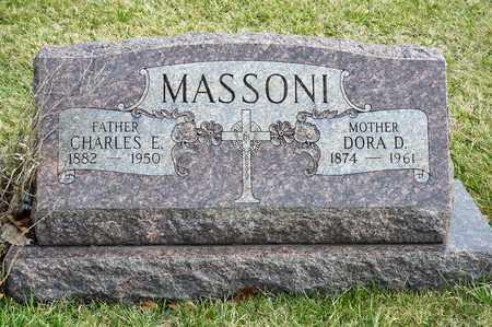 MASSONI, CHARLES E - Richland County, Ohio | CHARLES E MASSONI - Ohio Gravestone Photos