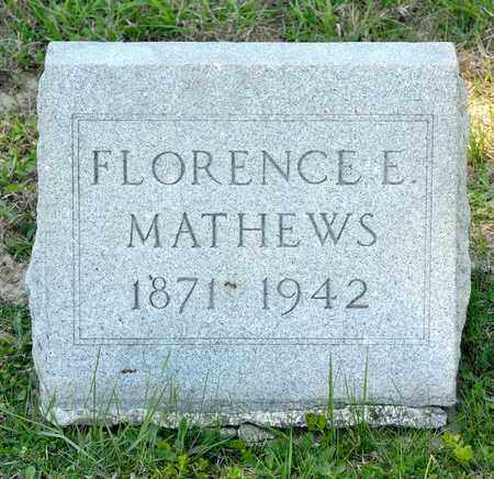 MATHEWS, FLORENCE E - Richland County, Ohio | FLORENCE E MATHEWS - Ohio Gravestone Photos