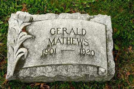 MATHEWS, GERALD - Richland County, Ohio   GERALD MATHEWS - Ohio Gravestone Photos