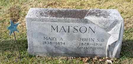MATSON, MARY A - Richland County, Ohio   MARY A MATSON - Ohio Gravestone Photos