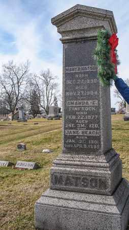 MATSON, MARY A - Richland County, Ohio | MARY A MATSON - Ohio Gravestone Photos