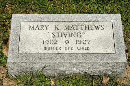 MATTHEWS, MARY K - Richland County, Ohio | MARY K MATTHEWS - Ohio Gravestone Photos
