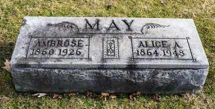 MAY, AMBROSE - Richland County, Ohio | AMBROSE MAY - Ohio Gravestone Photos