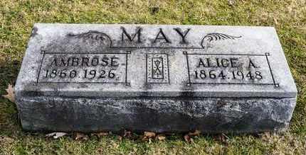 MAY, ALICE A - Richland County, Ohio | ALICE A MAY - Ohio Gravestone Photos