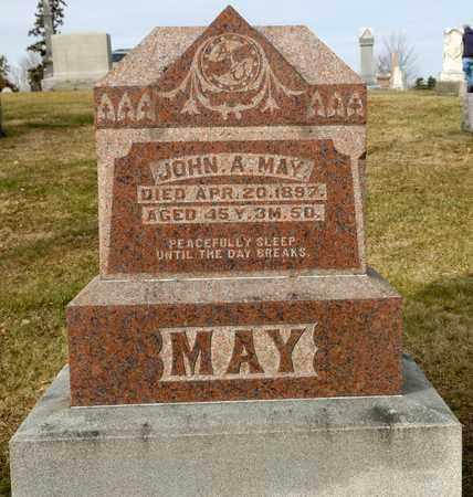 MAY, JOHN A - Richland County, Ohio | JOHN A MAY - Ohio Gravestone Photos