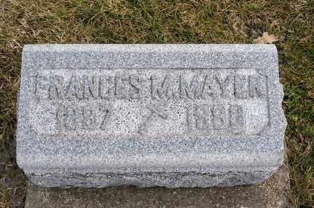 MAYER, FRANCES M - Richland County, Ohio   FRANCES M MAYER - Ohio Gravestone Photos