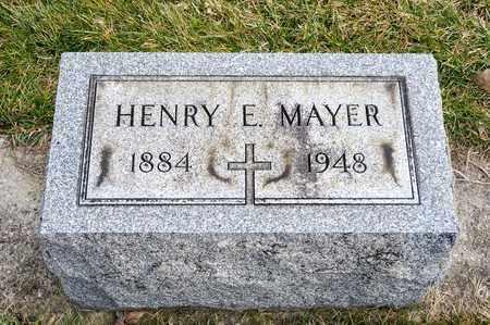 MAYER, HENRY E - Richland County, Ohio | HENRY E MAYER - Ohio Gravestone Photos