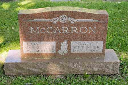 MCCARRON, GRACE P - Richland County, Ohio | GRACE P MCCARRON - Ohio Gravestone Photos