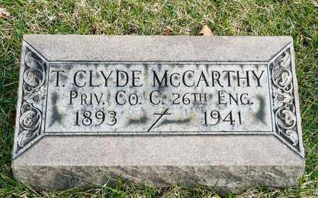 MCCARTHY, T CLYDE - Richland County, Ohio | T CLYDE MCCARTHY - Ohio Gravestone Photos