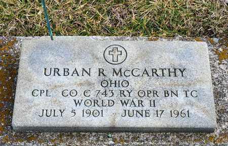 MCCARTHY, URBAN R - Richland County, Ohio | URBAN R MCCARTHY - Ohio Gravestone Photos