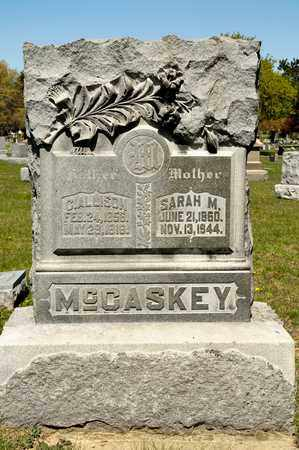 MCCASKEY, C ALLISON - Richland County, Ohio | C ALLISON MCCASKEY - Ohio Gravestone Photos