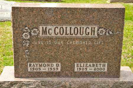 MCCOLLOUGH, ELIZABETH - Richland County, Ohio | ELIZABETH MCCOLLOUGH - Ohio Gravestone Photos
