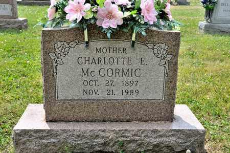 MCCORMIC, CHARLOTTE E - Richland County, Ohio | CHARLOTTE E MCCORMIC - Ohio Gravestone Photos
