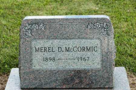 MCCORMIC, MEREL - Richland County, Ohio | MEREL MCCORMIC - Ohio Gravestone Photos